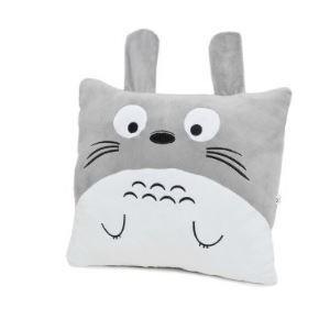 (Entrepôt UE) Coussin Ruiqibidi véritable Totoro Gris / Blanc
