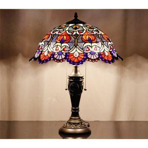 Lampe à poser délicate Tiffany D40cm lumianire de chambre salle