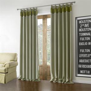 (Un panneau) Motif Vert fixe Méditerranée Polyester Rideaux Occultants-613