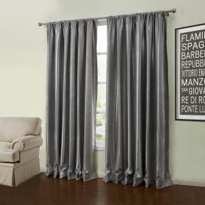 (Un panneau) moderne de relief gris motif géométrique Polyester Rideaux Occultants-56