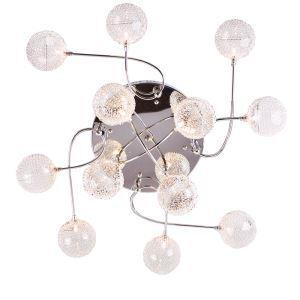 Plafonnier encastré à 12 lampes en aluminium 20W G4 pour salle chambre