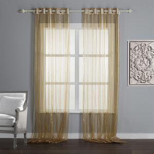(Entrepôt UE) (Un panneau) Moderne de rayure minimaliste modèle de luxe Linge de maison et de soie, tissu voilages