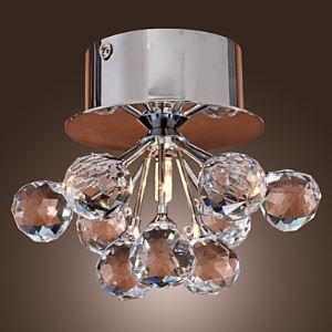 (Entrepôt UE) K9 Cristal applique murale en forme florale (G4 ampoule de base)