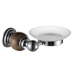 (Entrepôt UE) Couleur de chrome porte-savon en cuivre et en marbre fixé au mur