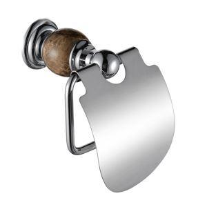 (Entrepôt UE) Gendarmerie nouveau moderne chrome de couleur Porte papier toilette cuivre et de marbre