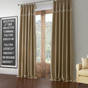 (Un panneau) Or clair moderne massif Motif polyester et coton Rideaux Occultants-595