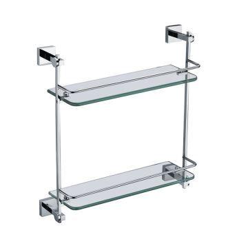 Etag res de salle de bains en verre chrome - Mini etagere salle de bain ...