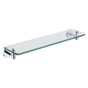 Etagère de salle de bain en verre chrome L50cm