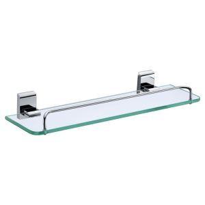 (Entrepôt UE) Etagères de salle de bains chrome de couleur en verre nouveau moderne