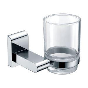 (Entrepôt UE) Nouveau moderne chrome de couleur porte-brosses à dents en laiton