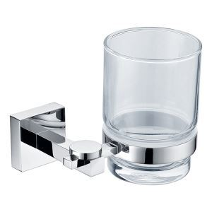 (Entrepôt UE) Simple contemporain en laiton porte-brosses à dents chromé