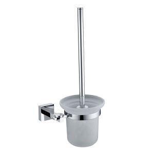 (Entrepôt UE) Salle de bain fini chrome Porte-brosse à toilette en laiton