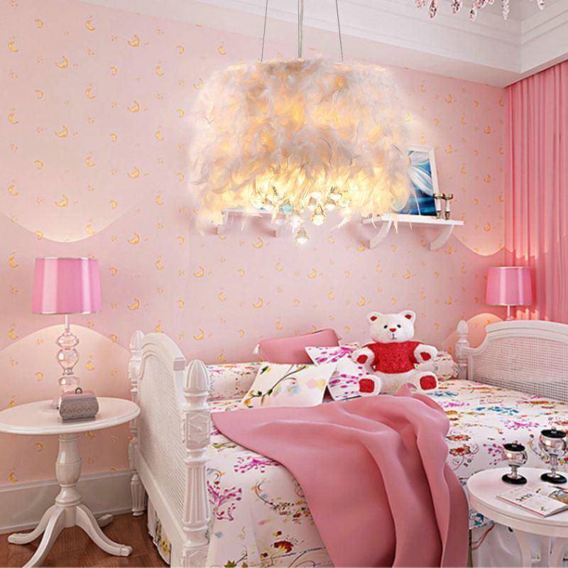 suspension a 3 lampes plume blanc goutte en cristal d40cm With chambre bébé design avec goutte bach