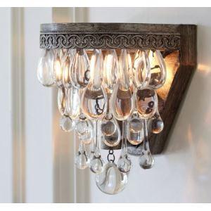 Appliques cristal Rétro Lampe de luxe
