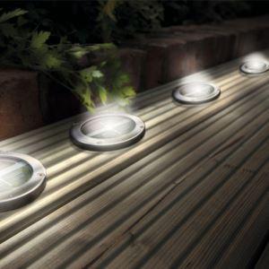LED solaire rond 110 x 25 mm extérieure