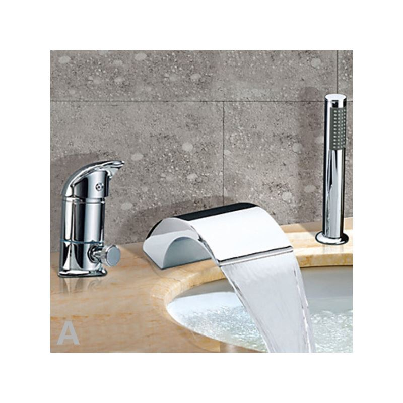 robinet de baignoire chrom cascade avec douchette 1. Black Bedroom Furniture Sets. Home Design Ideas