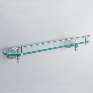 Etagère en verre laiton L50cm pour salle de bain