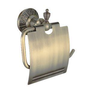 (Entrepôt UE) Antique Bronze étagère de papier de toilette avec couvercle mur en laiton monté porte-papier toilette