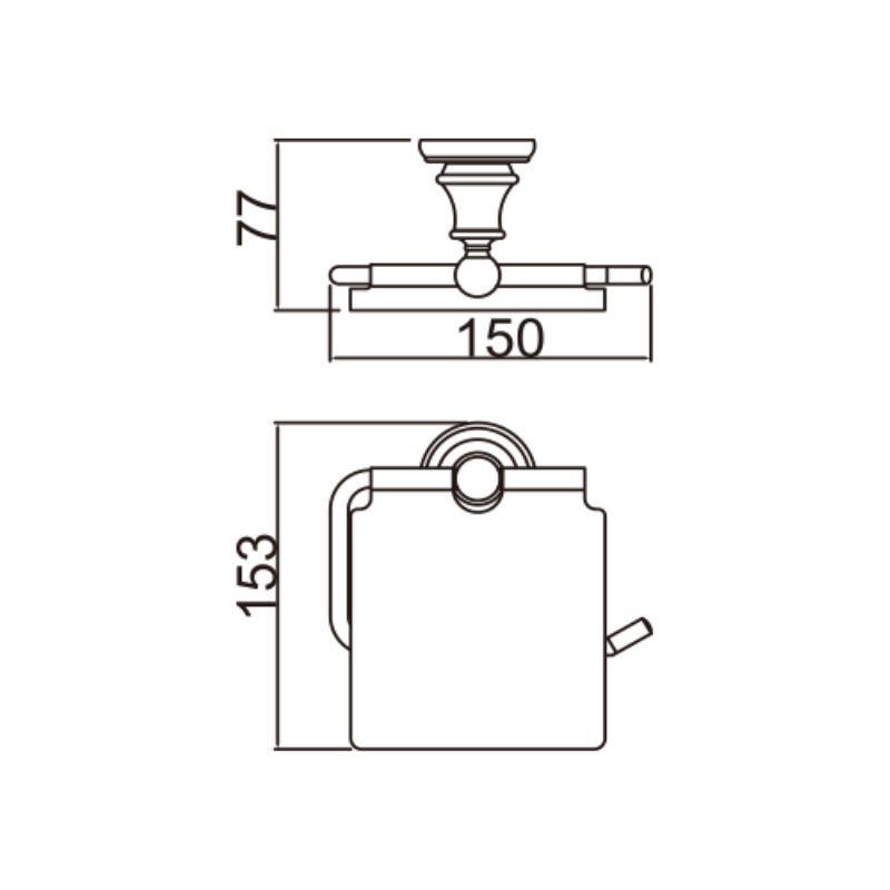 Entrepôt Ue) Porte-Papier De Toilette Contemporain Couleur D'Or Ti