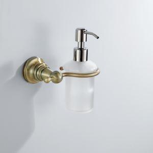 Porte savon distributeur en laiton mural L 13.5 cm pour salle de bain