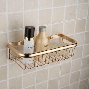 Etagère en laiton d'or pour salle de bain