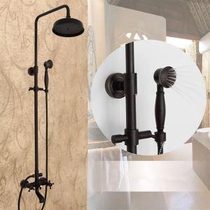 Colonne de douche avec douchette laiton ORB noir pour salle de bains