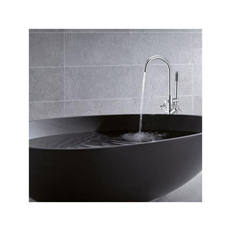 robinet de baignoire avec douchette en laiton pour salle de bain. Black Bedroom Furniture Sets. Home Design Ideas