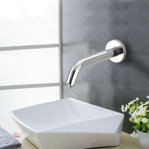 (Entrepôt UE) Capteur vive contemporain salle de bain lavabo robinet-Chromé finition(froid)