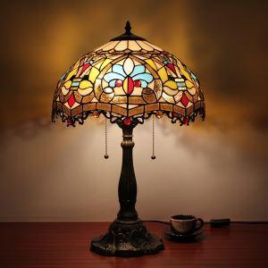 (Entrepôt UE) Tiffany Lampes de table avec 2 lampes