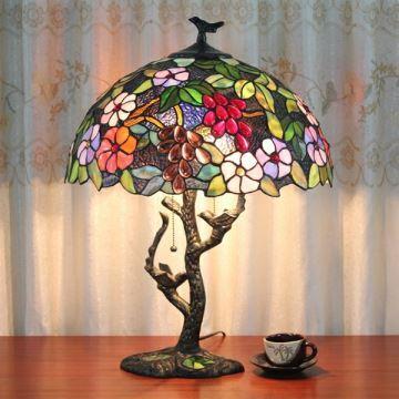 Lampe 224 Poser Tiffany 224 2 Lumi 232 Res H56cm Lampe De Chevet