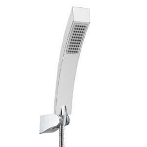 (Entrepôt UE) Contemporaine en laiton massif carré douche de tête Chromé douche à la main(S34011-2C12-2)