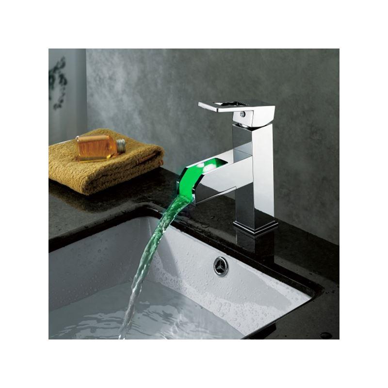 ue) changement de couleur led cascade lavabo robinet (hauteur