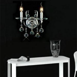 (Entrepôt UE) Couleur d'Or Cristal applique murale avec 2 Lampes