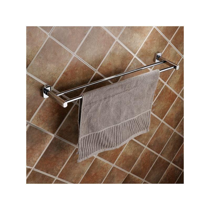 Entrep t ue porte serviette fini chrome contemporaines for Accessoire salle de bain porte serviette