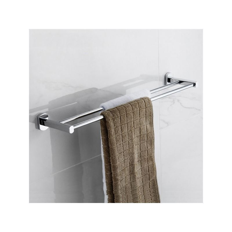 Entrep t ue porte serviette fini chrome contemporaines for Accessoires salle de bain chrome