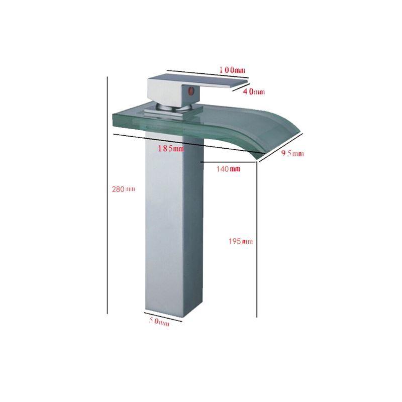 énergie hydroélectrique verre lavabo robinet chromé fini (hauteur