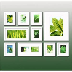(Entrepôt UE) Moderne simple Cadre de photo murale en blanc-Lot de 10