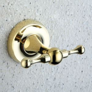 (Entrepôt UE) Crochet accessoires de salle de bain chrome en laiton massif