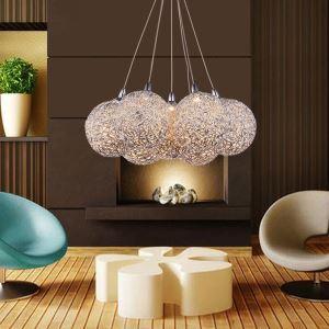 (Entrepôt UE) Contemporains Lustre lampes suspendues en aluminium avec 7 lampes