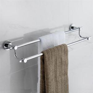 Laiton antique 24 pouces porte-serviette double