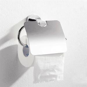 (Entrepôt UE) Contemporaine en laiton fini chrome accessoires de salle de bain Porte papier toilette