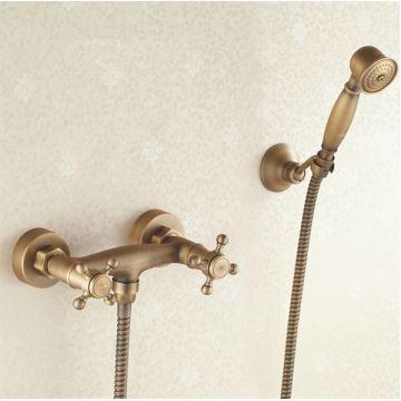 robinet de douche en laiton antique ensemble montage mural pour salle de bains. Black Bedroom Furniture Sets. Home Design Ideas