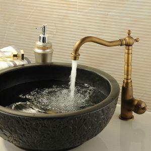 (Entrepôt UE) (DISPONOBLE) Classique en laiton Antique robinet de cuisine