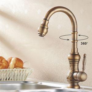 (Entrepôt UE) Laiton antique robinet de cuisine (finition cuivre Antique)
