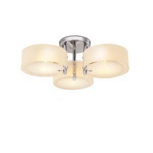 Plafonnier LED 3 spots D 64 cm acrylique chrome pour salle cuisine