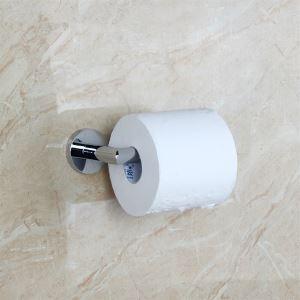 (Entrepôt UE) Contemporain laiton chromé Porte papier toilette