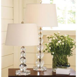 40W E27 moderne contemporain Crystal & Tissu Lampe de table
