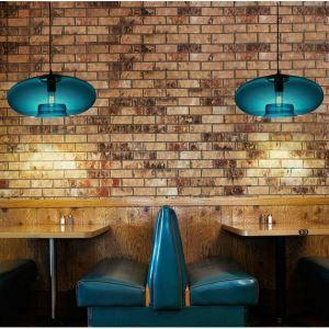 (Entrepôt UE) Lampe Lustre Suspension Moderne en verre Bleu luminaire pour cuisine restaurant