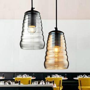 Rétro Style industriel campagne Américain Mini Verre Pendentif Lampe Lustre
