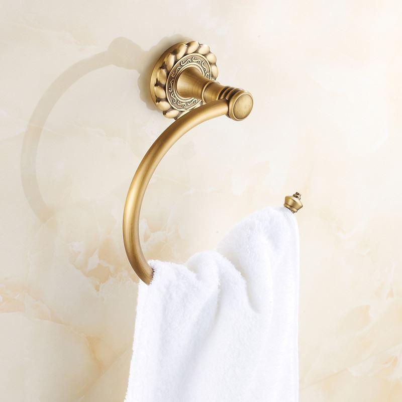 Haut accessoire de bain porte serviette anneaux for Accessoire salle de bain retro